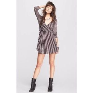 NWOT Free People Maverick Striped Knit Dress
